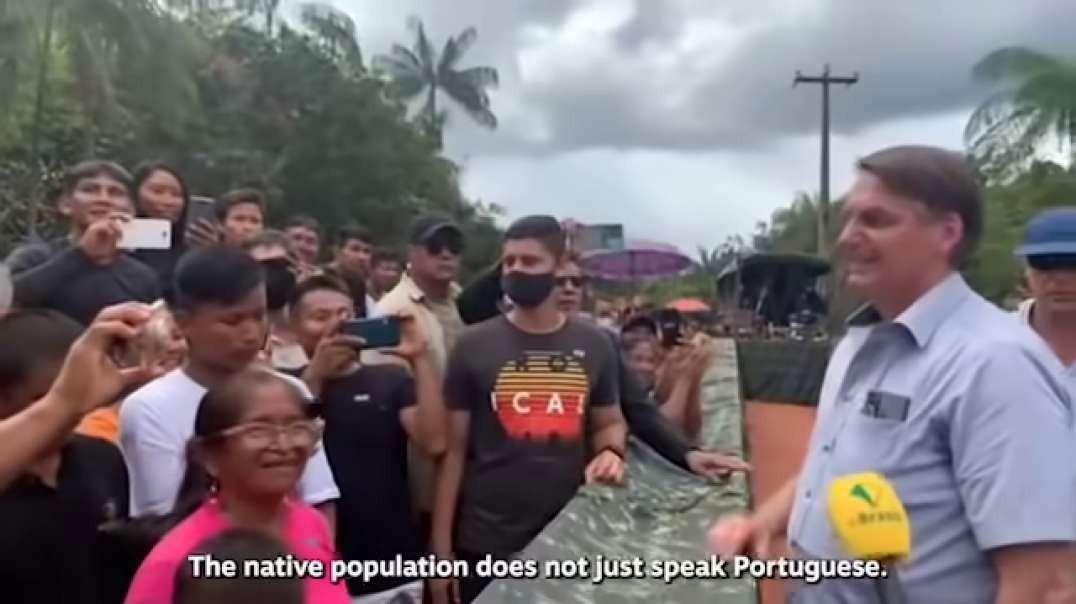 Qual Presidente fala até com os indios? Só o Bolsonaro